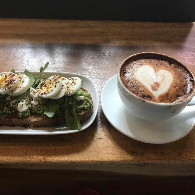 Avocado toast and a gorgeous latte for a day ofhellip